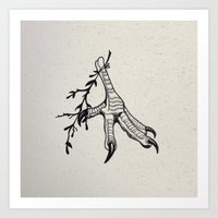 predator Art Prints featuring Predator by Aude Robert-Gingras