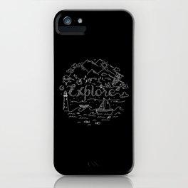 Explore(Black) iPhone Case
