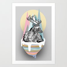 dreaming deer Art Print