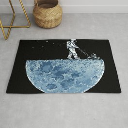 Astronaut on the Moon Rug