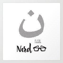 ن is for Nerd Art Print