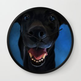 Little Black Doggie Wall Clock