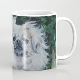 Tibetan Spaniel dog art from an original painting by L.A.Shepard Coffee Mug
