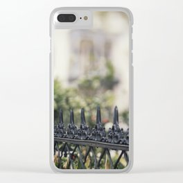 New Orleans Garden District Fence Clear iPhone Case