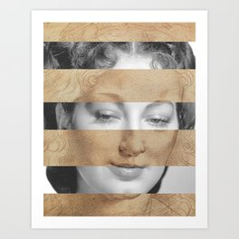 Leonardo da Vinci Head of Woman & Ava Gardner Art Print