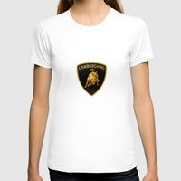 lamborghini T-shirts featuring Lamborghini black by JT Digital Art