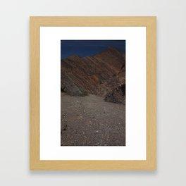 Canyon Gravels Framed Art Print