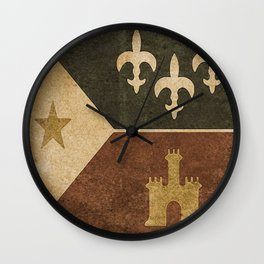 Acadian Flag Wall Clock
