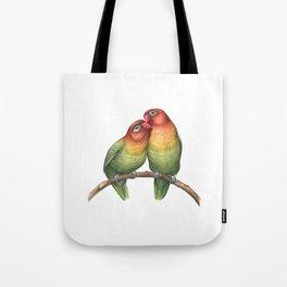 Fischer's Lovebird (Agapornis fischeri) Tote Bag