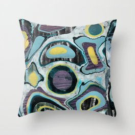 Multicolor textured marble spots Throw Pillow