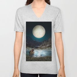 Somewhere You Are Looking At It Too II Unisex V-Neck