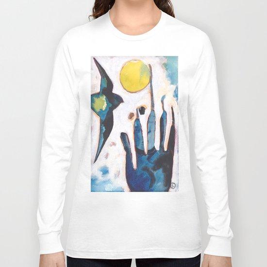 Bird and Hand Long Sleeve T-shirt