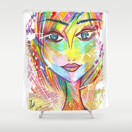 """""""What if I Fall? """"Oh, But My Darling, What if You Fly?"""" Shower Curtain"""