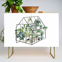 greenhouse with plants Credenza