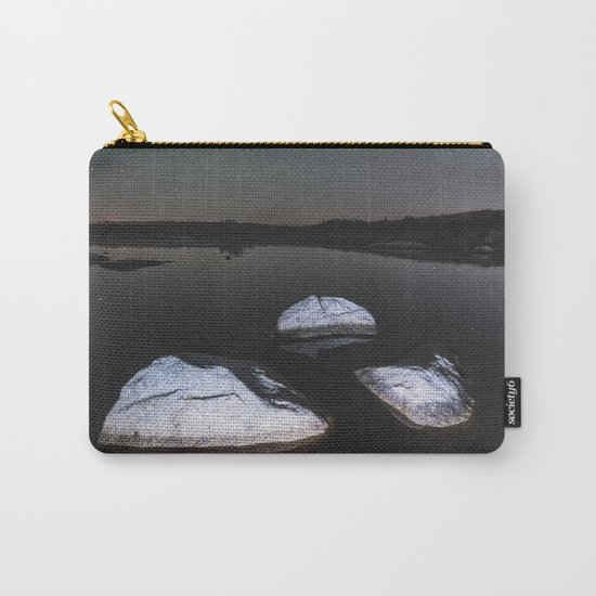 Boulders in Black Carry-All Pouch