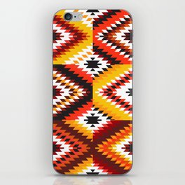Colorful patchwork mosaic, oriental kilim rug iPhone Skin