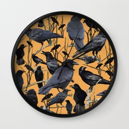 Crow | Corvidae Wall Clock