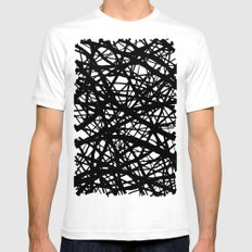 Tumble 3 SMALL White Mens Fitted Tee