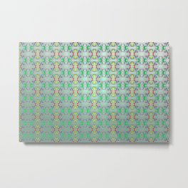 Softly colorful classic pattern ... Metal Print