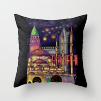 istanbul Throw Pillows featuring Istanbul  by Aleksandra Jevtovic