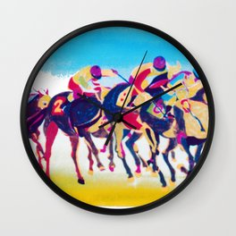The Melbourne Cup    AUSTRALIA        by Kay Lipton Wall Clock