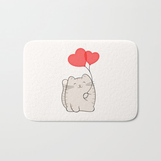 Eli, the love cat Bath Mat