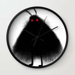 Your Fellow Friendly Cryptid: Mothman Wall Clock