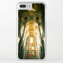 Sagrada Familia (inside) Barcelona, Spain Clear iPhone Case