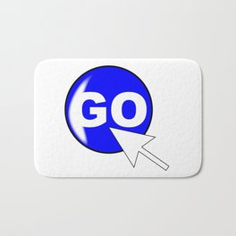 Computer Icon Go Bath Mat