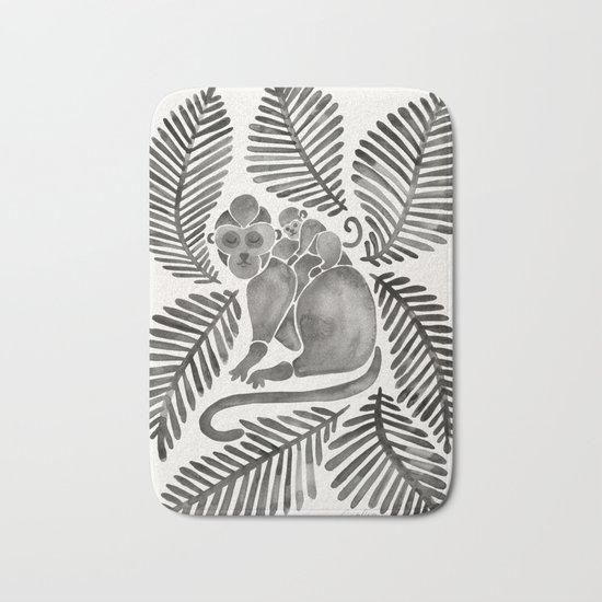Monkey Cuddles – Black Palette Bath Mat