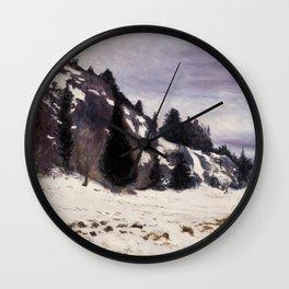 Hugo Simberg - Winter Landskap Wall Clock