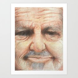 The old man down the road Art Print
