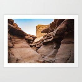 Red Canyon, Landscape - Israel Art Print