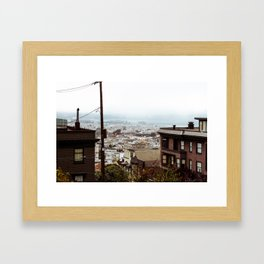 San Francisco Sunday Haze Framed Art Print