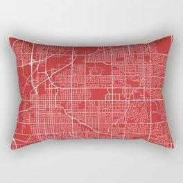 Lincoln Map, USA - Red Rectangular Pillow
