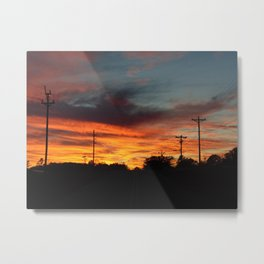 Country Sunset 2 Metal Print