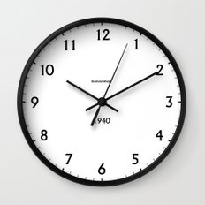 Type/Face 06 Wall Clock