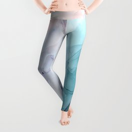 Beachy Pastel Flowing Ombre Abstract Flip Leggings