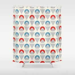 Mt Fuji Dots Shower Curtain