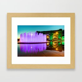 Purple Waters and Union Station - Kansas City Framed Art Print
