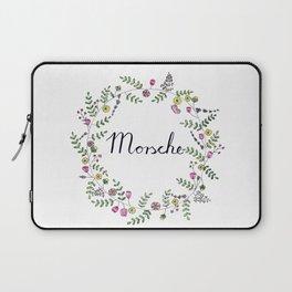 Morsche German Lettering with Flower Wreath Laptop Sleeve