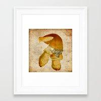 the mortal instruments Framed Art Prints featuring Mortal mushroom by Ganech joe