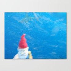 Gnome VS Shark Canvas Print