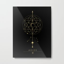 Aries Zodiac Constellation Metal Print
