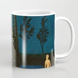 'Solitude, Female Form' Magical Realism Portrait Painting by Bolesław Biegas Coffee Mug