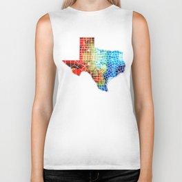 Texas Map - Counties By Sharon Cummings Biker Tank