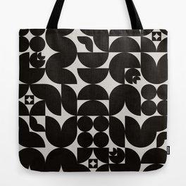 Black & White Mid Century Modern Pattern Tote Bag