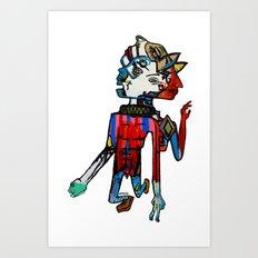 Mr Mr Dispositioned Man Man Art Print