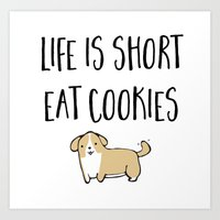 cookies Art Prints featuring Cookies! by I'm Knot Tangled