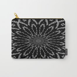 Shooting Star Black and White Kaleidoscope Carry-All Pouch
